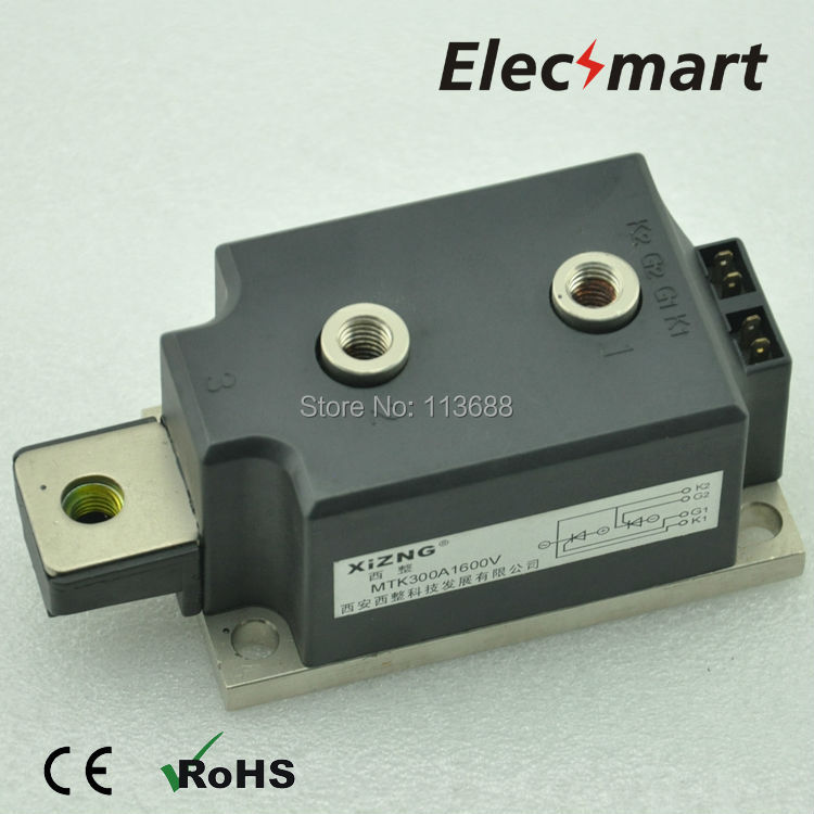 COMMON NEGATIVE POLE THYRISTOR MODULE MTK300A 1600V цены