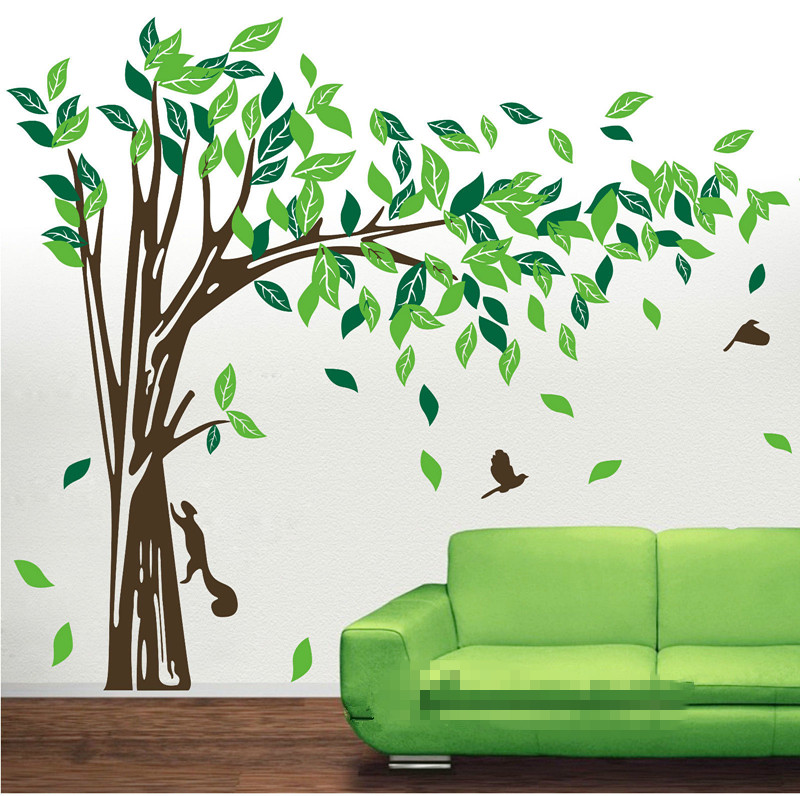 . US  25 48 15  OFF TV Background Mural Jungle Tree Removable Wall Art  Stickers Kids Nursery Vinyl Decals Decor Large Bedroom Wallpaper D372 in  Wall