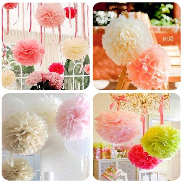 Partido 30 pcs 4,6, 8 polegadas 10 cm cm cm 20 15 rosa pompom Papel Tissue Pom Poms Flores de Papel Bola de casamento Decoração do Aniversário partes