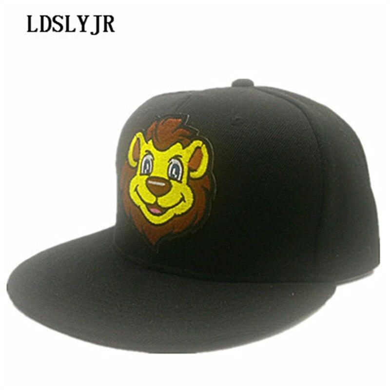 LDSLYJR 2017 cotton Cartoon lion embroidery Adjustable baseball cap hip-hop hat snapback cap for men women 602 stylish cartoon lizard embroidery hip hop black baseball hat