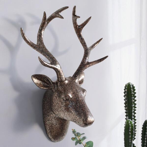 43 31 17CM Creative three dimensional animal head mannequin deer wall hanging living room home Wedding clothing Resin 1PC A328 in Mannequins from Home Garden