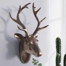 43*31*17CM Creative three-dimensional animal head mannequin deer wall hanging living room home Wedding clothing Resin 1PC A328