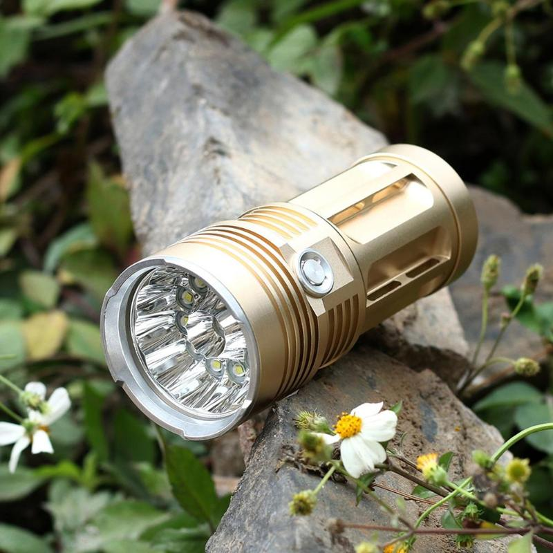 Waterproof Aluminium Alloy LED Outdoor Flashlights Hard Lighting Portable Torch Light for Camping Hiking Hunting Lamp Lighting