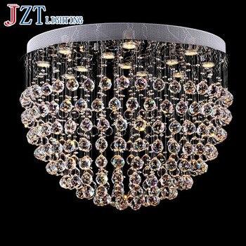 J מודרני במחיר תאורת מנורות Led מעגל מנורת k9 קריסטל לספוג כיפת אור בהירות תקרת אור גביש נברשת