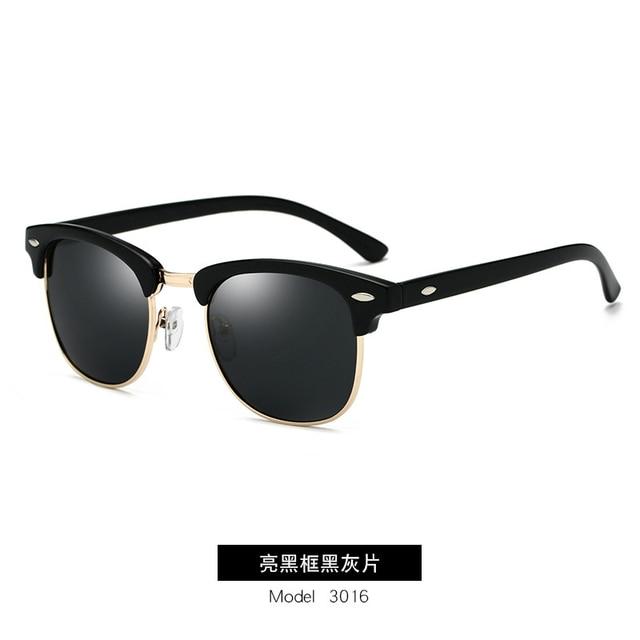 GUANGDU-Gafas de sol polarizadas para hombre y mujer, lentes de sol con marco de policarbonato tipo ojo de gato, de estilo clásico, protección UV400, modelo RB3016 4