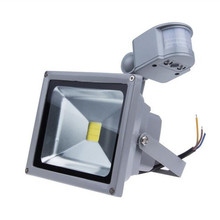 IP65 Waterproof 10W 20W 30W 50W Led Floodlight PIR Outdoor l