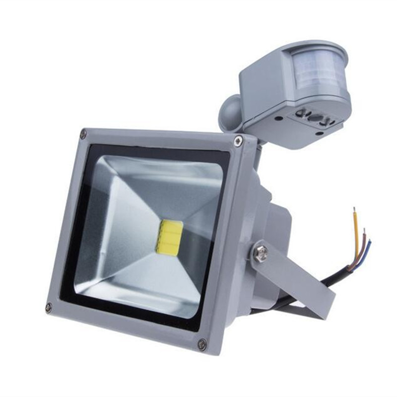 IP65 Waterproof 10W <font><b>20W</b></font> 30W 50W <font><b>Led</b></font> <font><b>Floodlight</b></font> PIR Outdoor lighting Project Lamp PIR <font><b>LED</b></font> Flood light Motion detective Sensor image