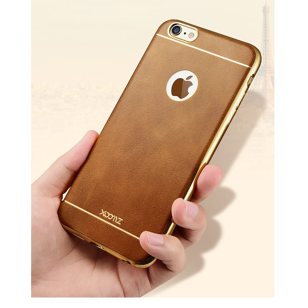 XOOMZ 3D Printed for iPhone 6 6s Plus Soft Case Silicone for iPhone 6 Plus Cell Phone Protective Cover w Gold Electroplating