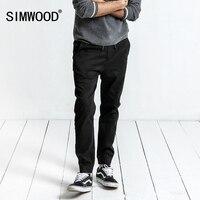 SIMWOOD 2017 Kış Yeni joggers kargo Pantolon Erkekler Rahat Elastik Bel Slim Fit Artı Boyutu Pamuk Harem Pantolon XC017026