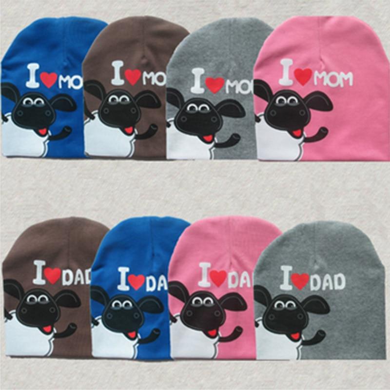 2015 Fashion Baby Boy&Girls Hat Cotton Warm Winter Autumn Cap Kids Hats Beanies Pentagram sheep I love papa I love mama baby hat