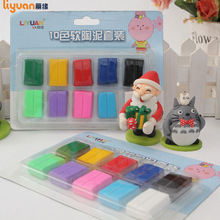 Direct sales of soft clay wholesale 10 color plastic card packaging new childrens puzzle toys manual DIY non-toxic