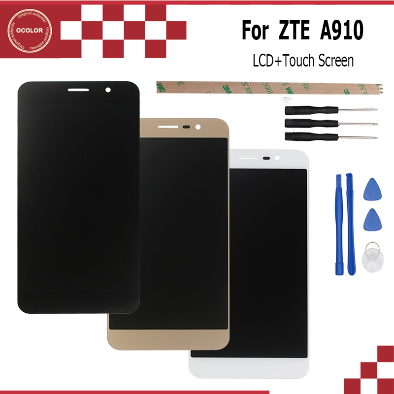 ocolor 5 5inch For ZTE Blade A910 BA910 TD LTE LCD Display and Touch Screen Digitizer