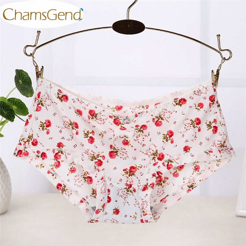 Seamless Underwear Women Flower Print Comfort Briefs Underpants Sexy Linegrie Daily   Panty   170707