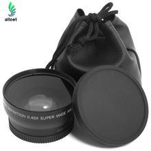 Горячие Продажи HD 0.45×52 мм Супер Широкоугольный Объектив с Макро-Объектив и Сумка Для Nikon D800, D3200, D3100, D5100, D7000