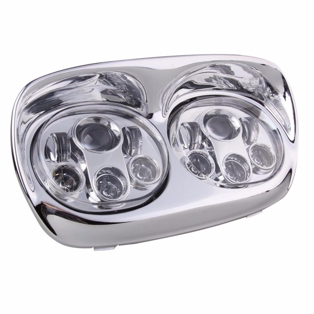 6 LEDs Hi/Lo Beam Dual 5.75' Headlights Motorcycle Dual LED Headlights For Harley Road Glides