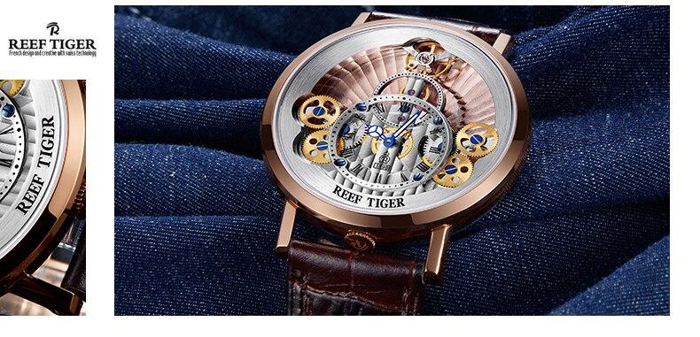 2019 Recife TigreRT Designer Esqueleto Relógios para