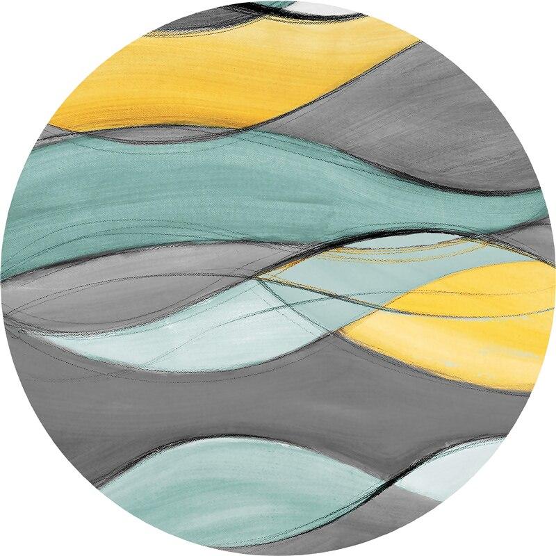 Tapis rond ins nordiques tapis abstrait chambre chevet tapis étude ordinateur bureau coussin pivotant salon table basse tapis - 3