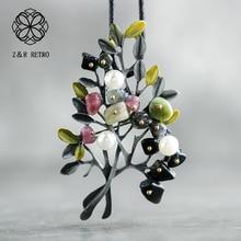 5acaabc4bbff Collar de hoja Vintage piedra Natural para mujer collar de cuerda cadena  colgante hecho a mano regalo joyería de moda 2018