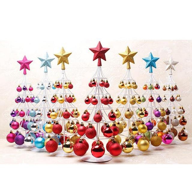 Mini Christmas Bauble Tree Ball Xmas Home Table Centerpiece Decor In