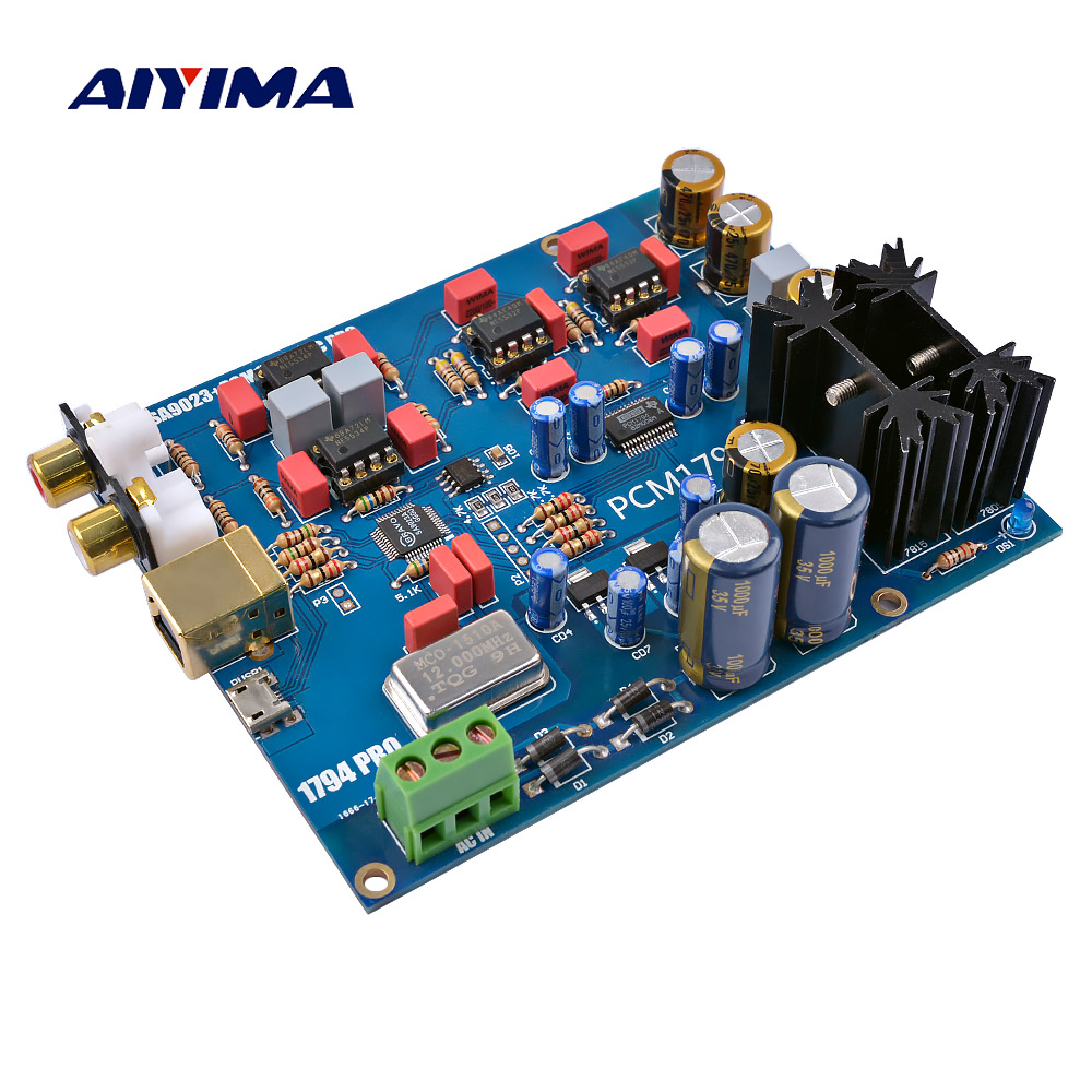 AIYIMA SA9023 PCM1794 Decoder Board DAC Sound Card Audio Decoder For Amplifiers Headphone Amplifier Diy