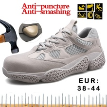 Hohner New Fashion Steel Toe Cap Safety Shoes Anti-smashing Anti-puncture Safety Work Boots Outdoor Breathable Protective Shoes цены