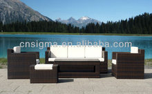 Contemporary Patio Outdoor Wicker Furniture Living Room Sofa Sitting Room with Ottoman(China)