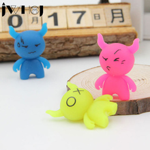 3 pcs/lot JWHCJ Novelty cute Cartoon cow luminous rubber eraser creative stationery school supplies papelaria gifts for kids