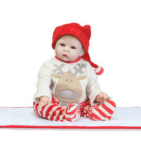 55cm Soft Body Silicone Reborn Baby Dolls Toy