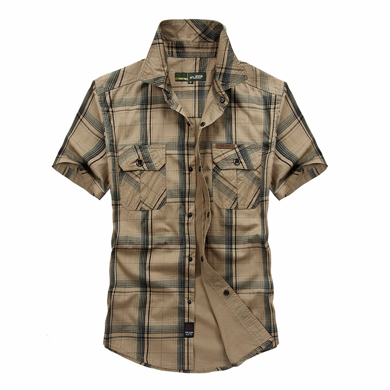2018 Mens Summer Tactical Clothing Quick Dry Military Shirt Breathable Short Sleeve Plaid Shirt Mens Combat Shirts Plus Size 5XL ...