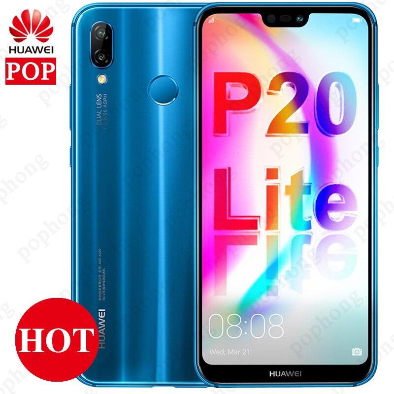 "Global Firmware 5.84"" Huawei P20 Lite 4GB RAM 64GB/128GB Android 8.0 Smartphone Kirin 659 Octa Core 24.0MP Camera FHD+ 2280x1080"