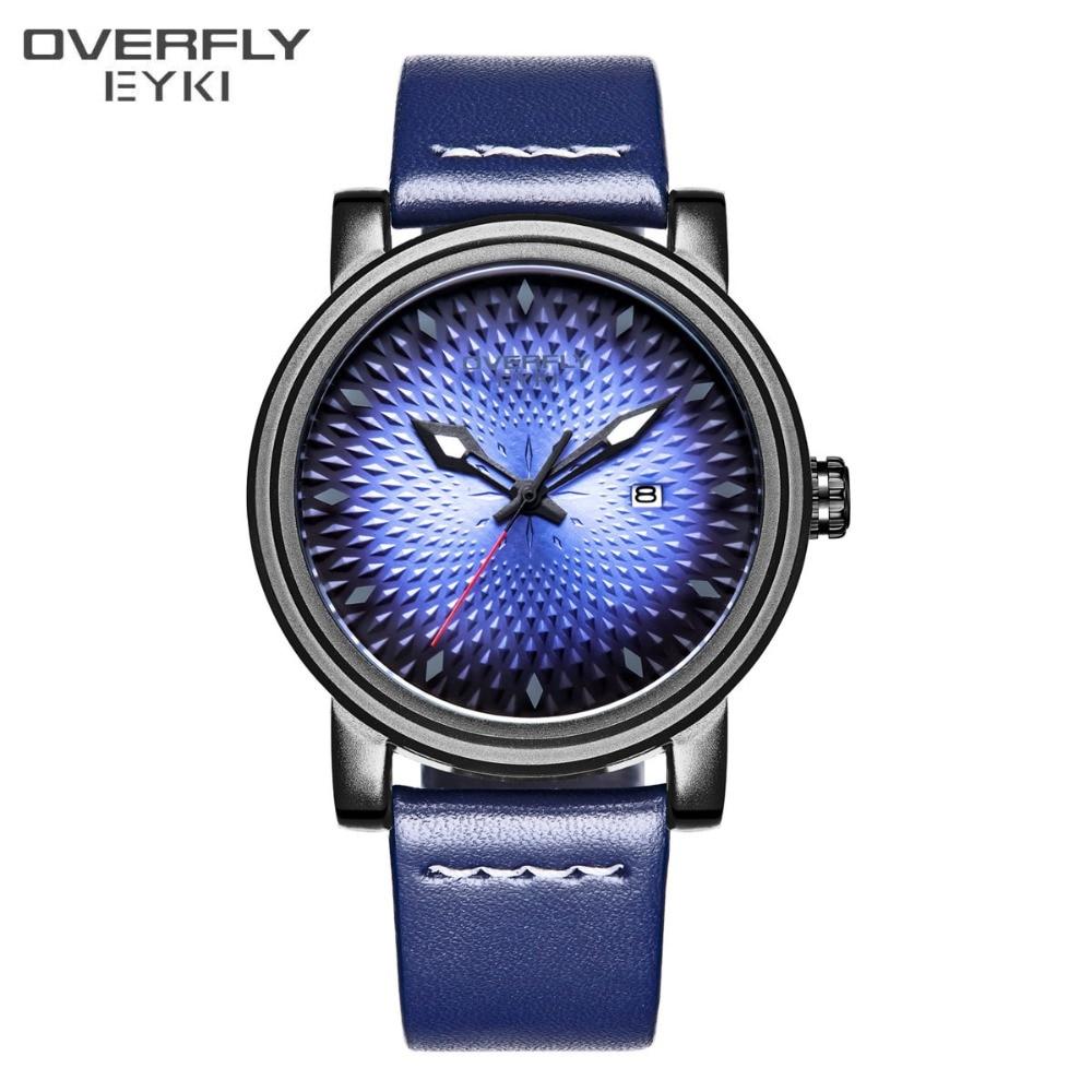 EYKI Blue Armband Klocka Smycken Luxury Business Enkel Kvartsur Mode - Herrklockor
