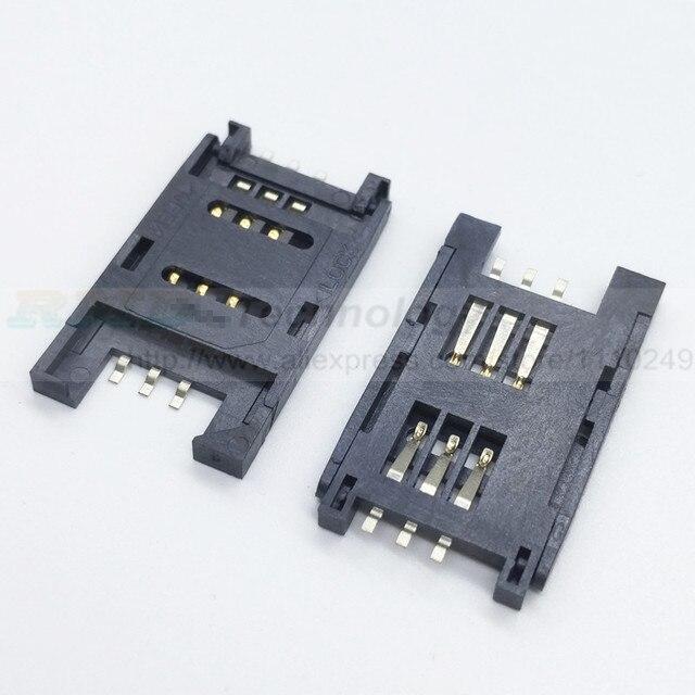 New gốc 10 cái/lốc vỏ sò SIM chủ thẻ SMD 6 P Kết Nối Thẻ SIM/Memory Card Kết Nối Socket Miễn Phí vận chuyển