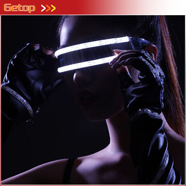 New 5 colors Flashing LED Glow Glasses Flashing LED Glasses For Chirstmas Laser Glasses Dance Stage Perform Party Decoration