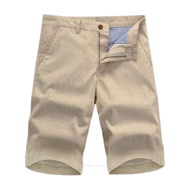 740011d678 US $16.82 49% OFF Aliexpress.com : Buy New shorts men 2016 summer Fashion  Mens Shorts Casual Bermuda Masculina Leisure beach Linen Trousers Knee ...