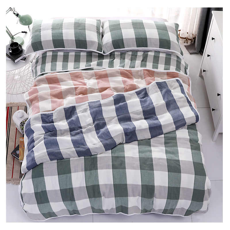 6 Layers Gauze Cotton Throw Blanket for Sofa Bed Summer Lightweight Air-Conditioning Throws Bedspread for Kids Adult
