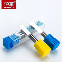 HUHAO 1pc 6mm Flat Bottom Engraving Bits 45-50mm Lengthened CNC Router Tools V Carbide Carving Cutters Degree 20 25 30 60 90