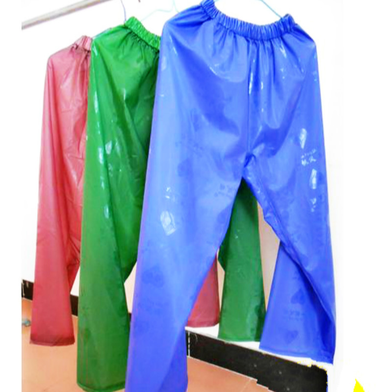 Impermeable raincoat waterproof trousers pants rubber for Fishing rain suits