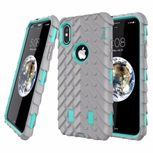 Tire Pattern Rugged Phone Case for iPhone X