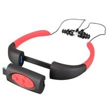 Mejor Precio Reproductor de Música MP3 Auricular Natación Buceo IPX8 Impermeable Reproductor de MP3 Incorporado 4 GB de Memoria De Almacenamiento