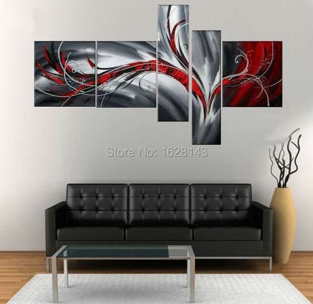 Aliexpresscom Buy Hand Painted Canvas Oil Paintings For Living