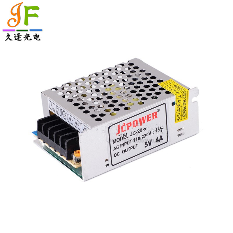 20pcs fast shipping 5V 4A 20W Switching Power Supply CCTV DVR Security US2 for APA102 WS2812B