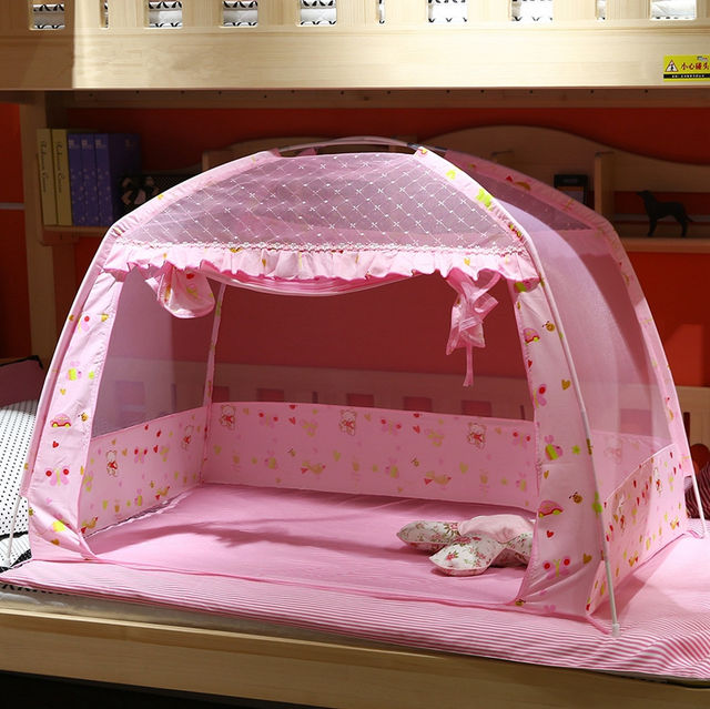 Pink/Blue Summer Baby Bed Mosquito Net Folding