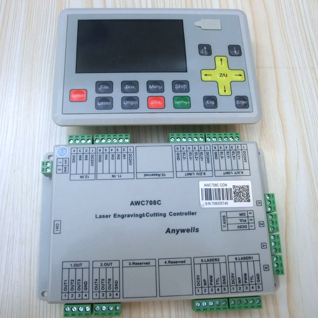 Trocen Anywells AWC708C lite co2 Laser motion Controller for Laser ...