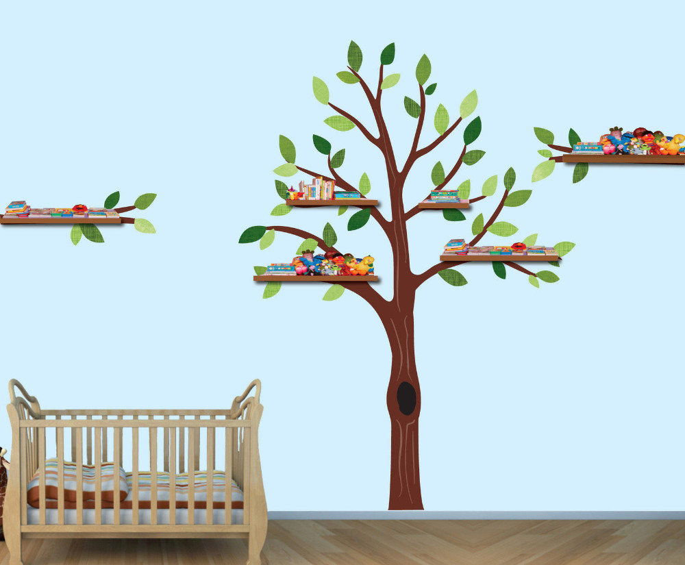 Boys Room Walls Us 64 99 Nursery Tree Shelf Tree Decals Boys Room Wall Stickers Tree Wall Art Huge Tree White Branch Wall Sticker For Kids Room In Wall Stickers