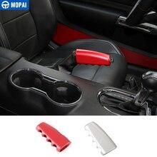 MOPAI Aluminum Car Interior Gear Shift Knob Hand Brake Level