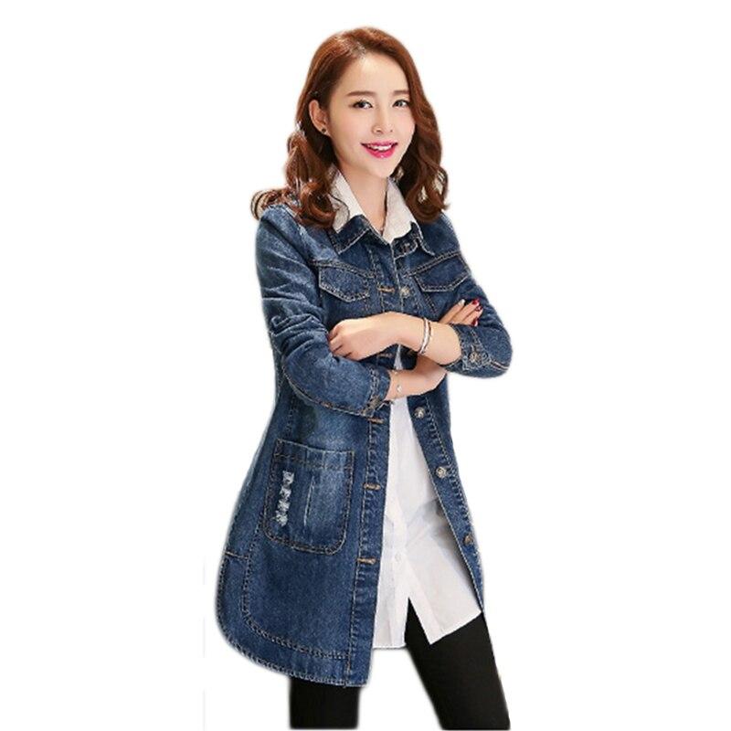 Plus Size 5xl 2018 Denim Jackets Women Hole Boyfriend Style Half