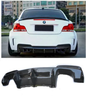 Car Carbon Fiber Rear Bumper Spoiler Lip, Auto Car Rear Bumper Diffuser Cove For BMW E82 1 Series 2011 2012 2013 2014 2015 2016