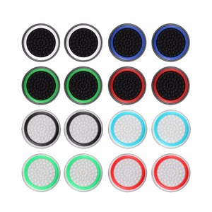 2pcs/lot Game Accessory Protect Cover Silicone Thumb Stick Grip Caps for PS4/3 for Xbox 360/for Xbox one Game Controllers(China)