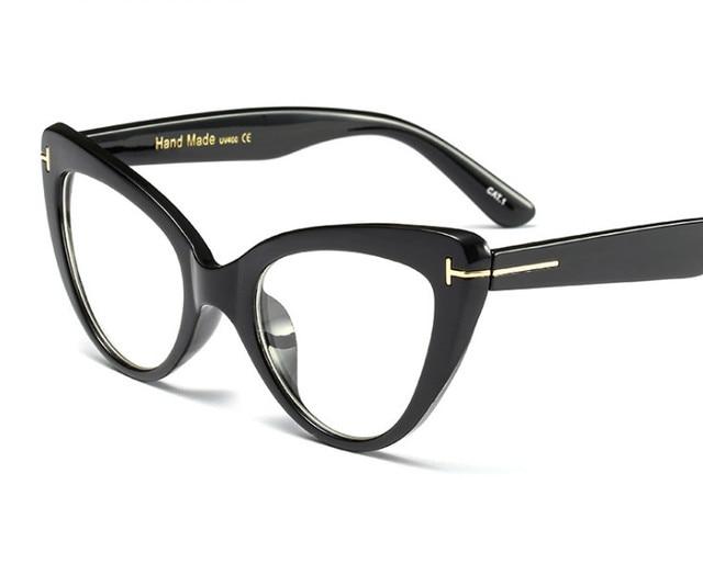 3aaf28bb3e Eyesilove Nuevo 2018 moda gato ojo gafas marcos marca diseño Vintage ojo  gafas marco mujer leopardo