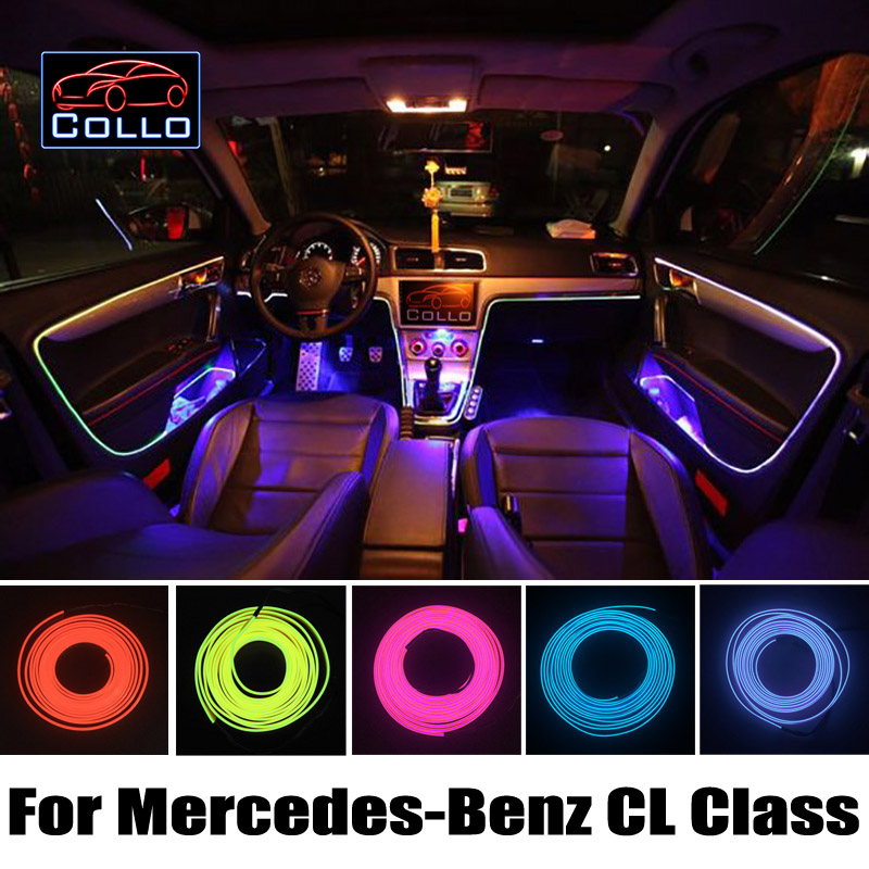 Newest Car Decoration Cold Light Atmosphere Lamp / 9M EL Wire For Mercedes For Benz CL Class W215 C216 W216 / 9 Color Choice
